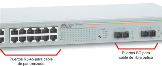 07 - Switch con puertos RJ-45 y SC