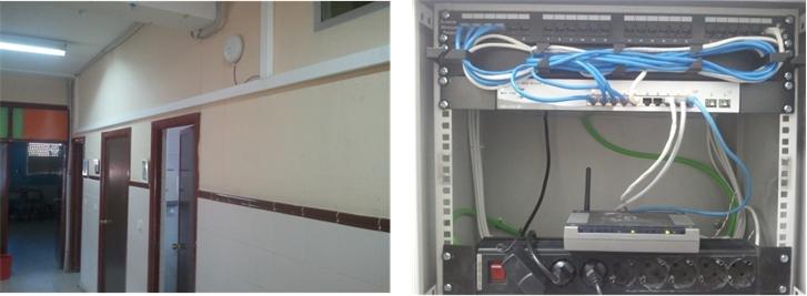 Figura10. Fotos de instalación Wi-Fi